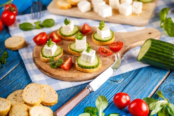 Italiano torrado pão com alho pepino Foto stock © grafvision
