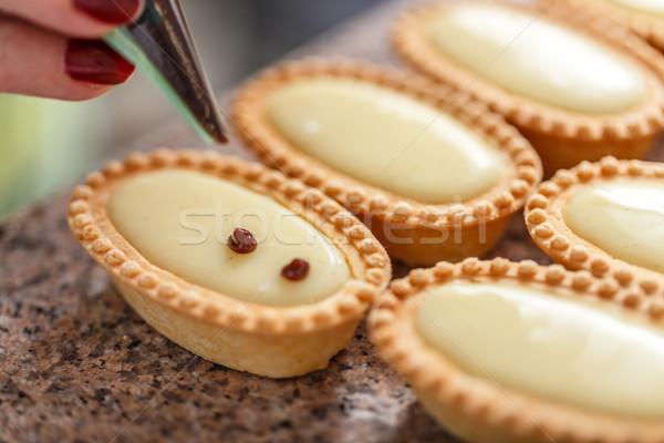 Mini cream tarts Stock photo © grafvision