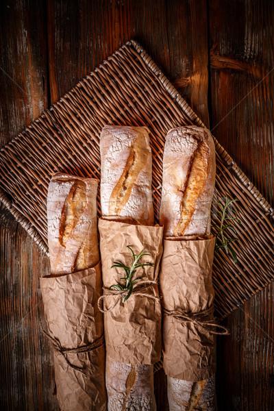 традиционный белый багеты Top мнение древесины Сток-фото © grafvision