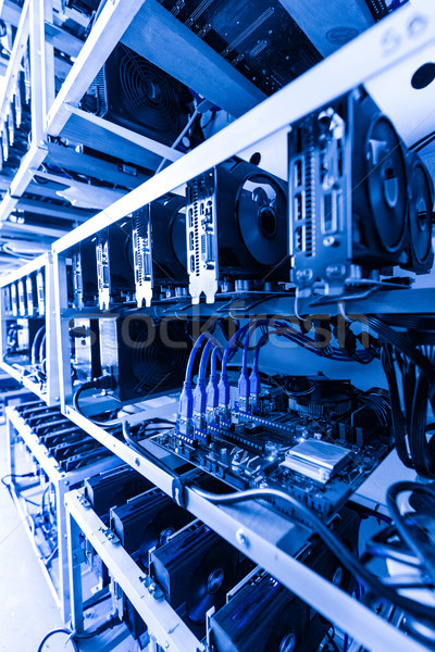 Cryptocurrency mining rig Stock photo © grafvision