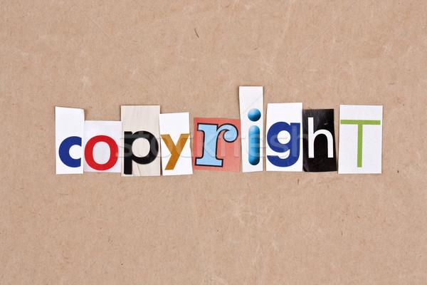 Szerzői jog levelek papír felirat levél dugó Stock fotó © grafvision