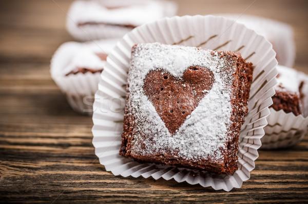 Chocolate brownies  Stock photo © grafvision