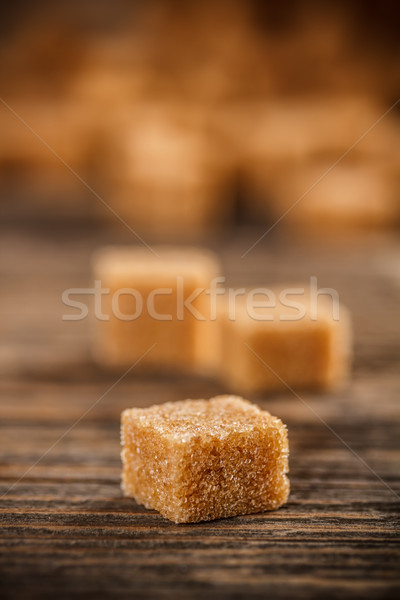 Brown lump sugar Stock photo © grafvision