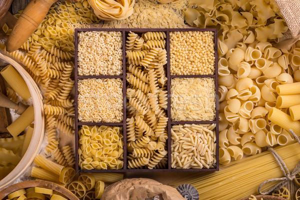 ストックフォト: パスタ · 先頭 · 表示 · 背景 · スパゲティ