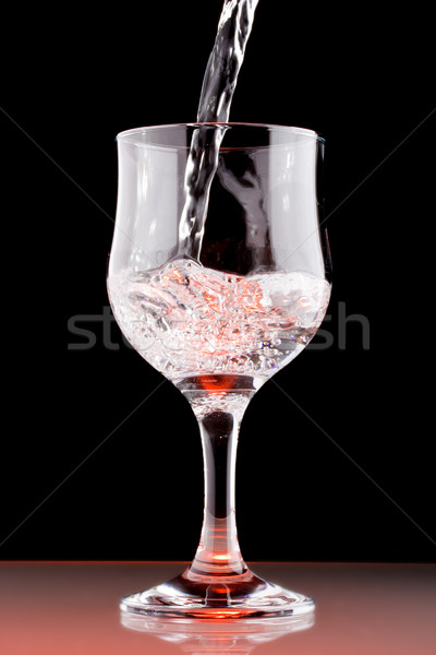 Tiszta víz üveg fekete ital tiszta alkohol Stock fotó © grafvision