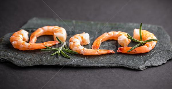 морепродуктов черный морем фон царя здорового Сток-фото © grafvision