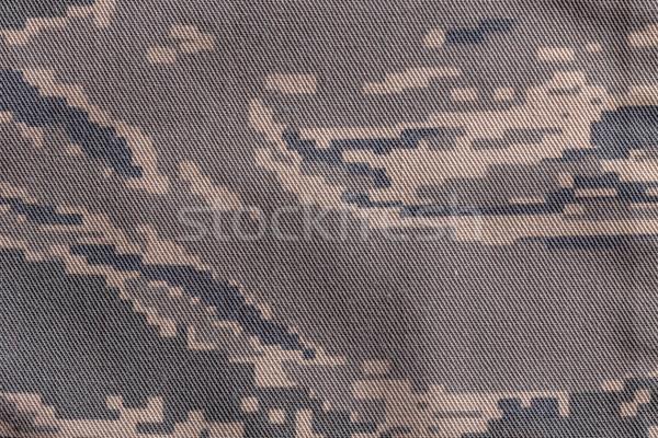 Cyfrowe kamuflaż tkaniny armii tekstury tle Zdjęcia stock © grafvision