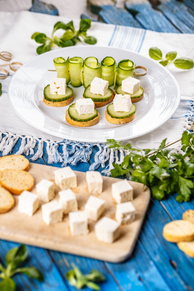 Italian toasted garlic bread Stock photo © grafvision