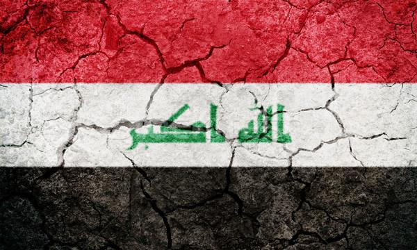 República Iraque bandeira secar terra terreno Foto stock © grafvision