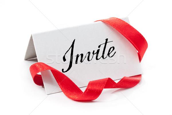Invite Stock photo © grafvision