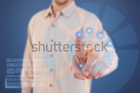 Férfi dolgozik modern technológia üzlet számítógép Stock fotó © grafvision
