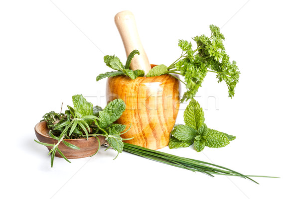Fresh flavoring herbs Stock photo © grafvision