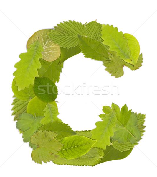 緑色の葉 手紙 フォント 白 手紙c ツリー ストックフォト © grafvision