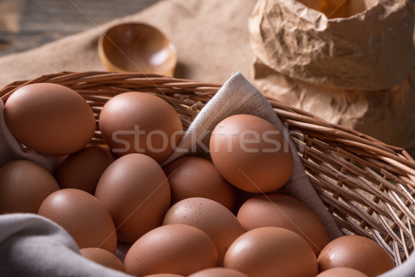 Brown eggs  Stock photo © grafvision