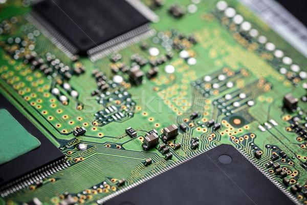 Elektronische circuit board bewerker netwerk digitale kaart Stockfoto © grafvision