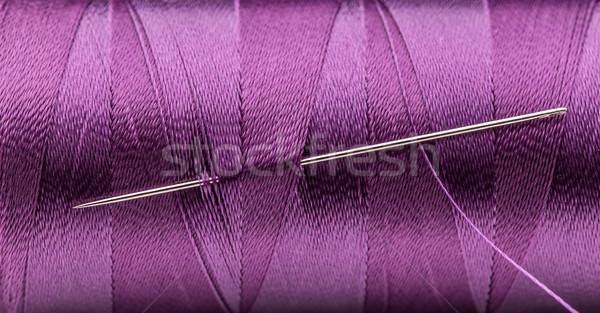 スレッド 針 紫色 ショット ツール ストックフォト © grafvision