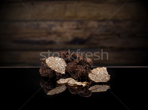 Black autumn truffles Stock photo © grafvision