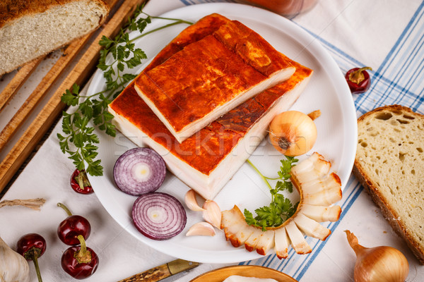 Raw pork lard  Stock photo © grafvision