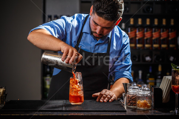 Bartender makes a cocktail Stock photo © grafvision