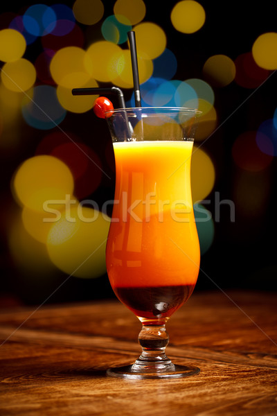 Fresh drink coctail on a color background blur bokeh  Stock photo © grafvision