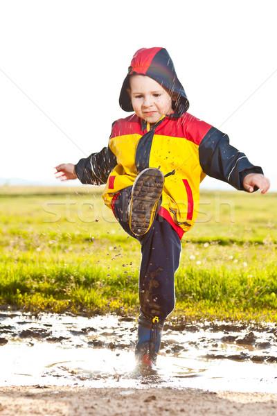 Boy having fun Stock photo © grafvision