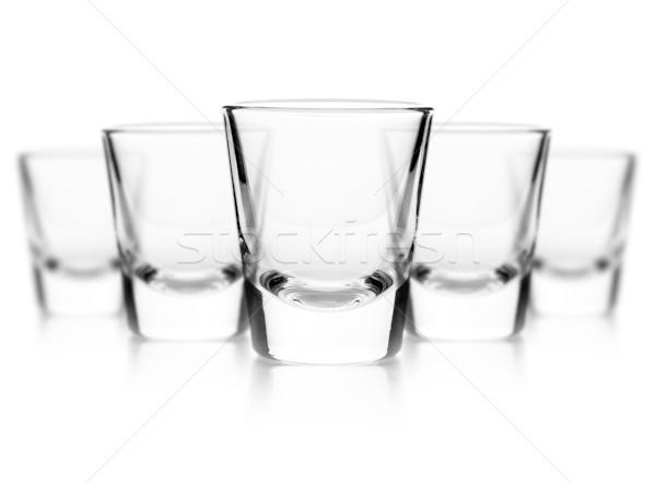 üveg vodka fehér sziluett csésze út Stock fotó © grafvision