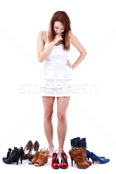 женщину обувь моде торговых жизни Сток-фото © grafvision