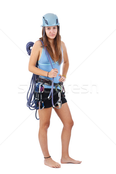 woman in climbing equipment Stock photo © grafvision