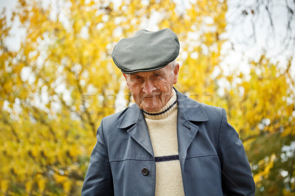 Сток-фото: старик · портрет · глядя · пожилого · парка