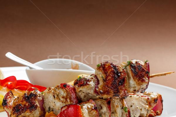 Stock fotó: ízletes · grillezett · hús · közelkép · hús · főzés · zöldség