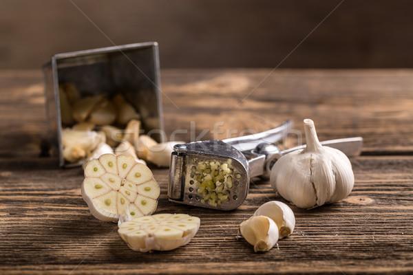 Alho imprensa cor aço cozinhar Foto stock © grafvision