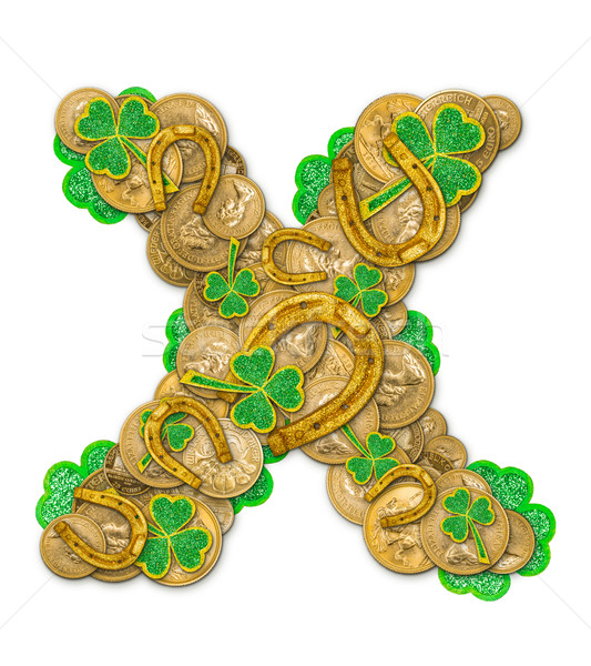 St. Patricks Day holiday letter X  Stock photo © grafvision