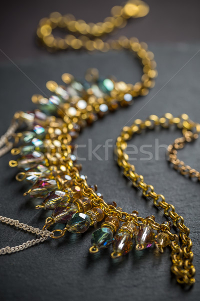 Metal feminine necklace Stock photo © grafvision