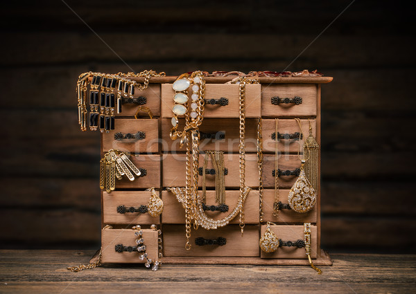Retro styled jewel box Stock photo © grafvision