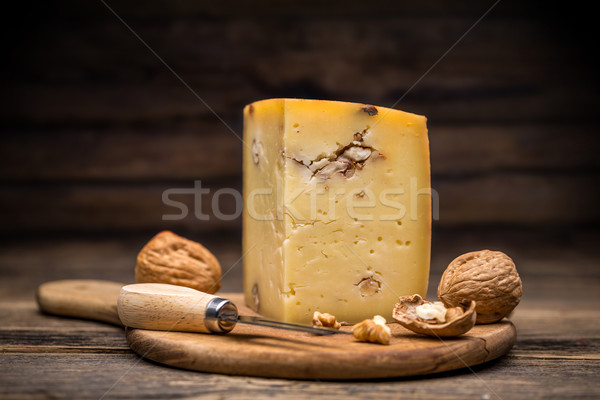 Aging artisan cheese Stock photo © grafvision