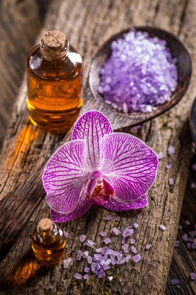 Bath salt and oil Stock photo © grafvision