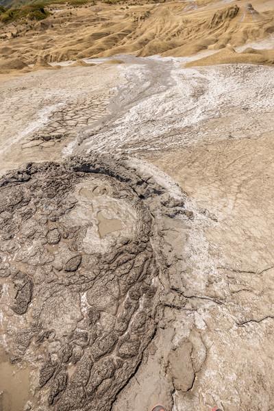 Modder vulkaan klein krater water reizen Stockfoto © grafvision