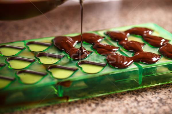 Chocolate bolor coração doce doce Foto stock © grafvision