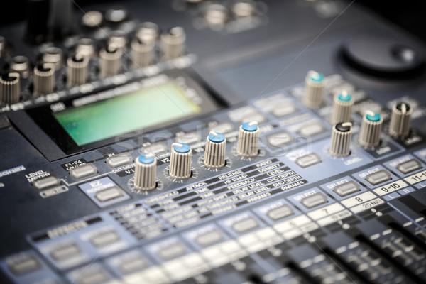 Hang zene keverő irányítópanel ipar koncert Stock fotó © grafvision