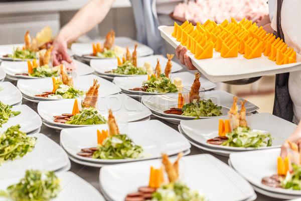 Pişirmek meze yemek bulaşık gurme restoran Stok fotoğraf © grafvision