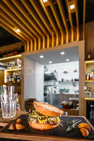Pulled beef burger Stock photo © grafvision