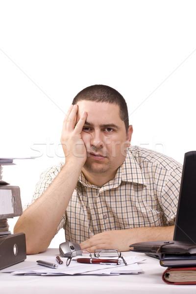 человека служба рабочих бумаги работу таблице Сток-фото © grafvision