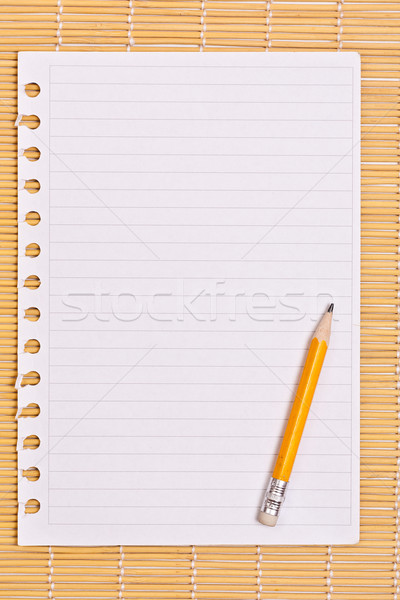 Note paper and pencil  Stock photo © grafvision
