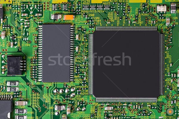 Elettronica circuito processore top view computer Foto d'archivio © grafvision