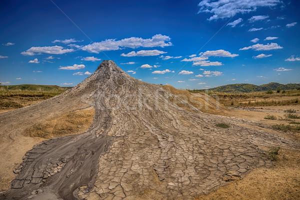 Aktywny błoto tekstury ziemi górskich podróży Zdjęcia stock © grafvision