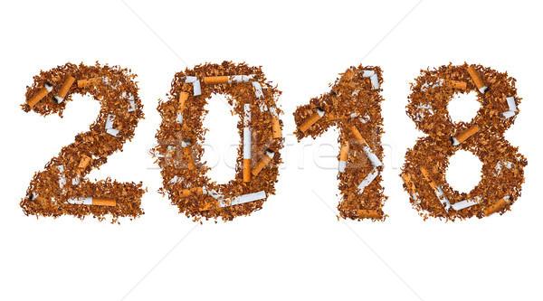 Cigarettes séché fumer tabac écrit blanche Photo stock © grafvision