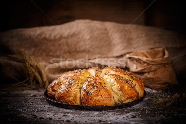 Fresh breakfast triangle buns Stock photo © grafvision