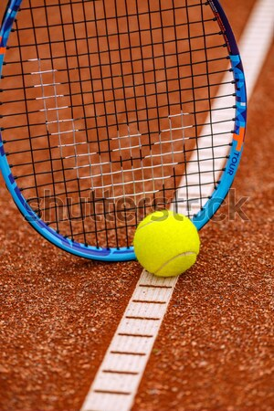 Tennis ball and racket Stock photo © grafvision