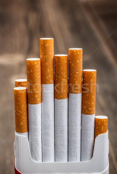 Foto stock: Caixa · cigarros · fumar · pacote · charuto