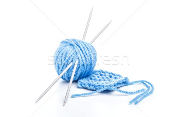 Blue ball of yarn Stock photo © grafvision